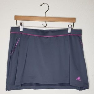 Adidas Gray Pink Tennis Skort